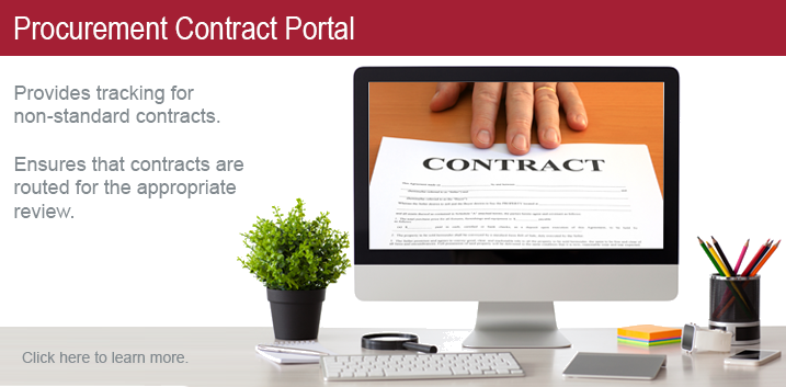 Click here to access the Procurement Contract Portal.